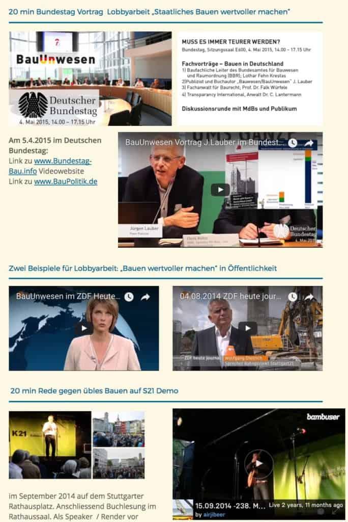 Bilder Bürgerinitiative gegen BauUnwesen