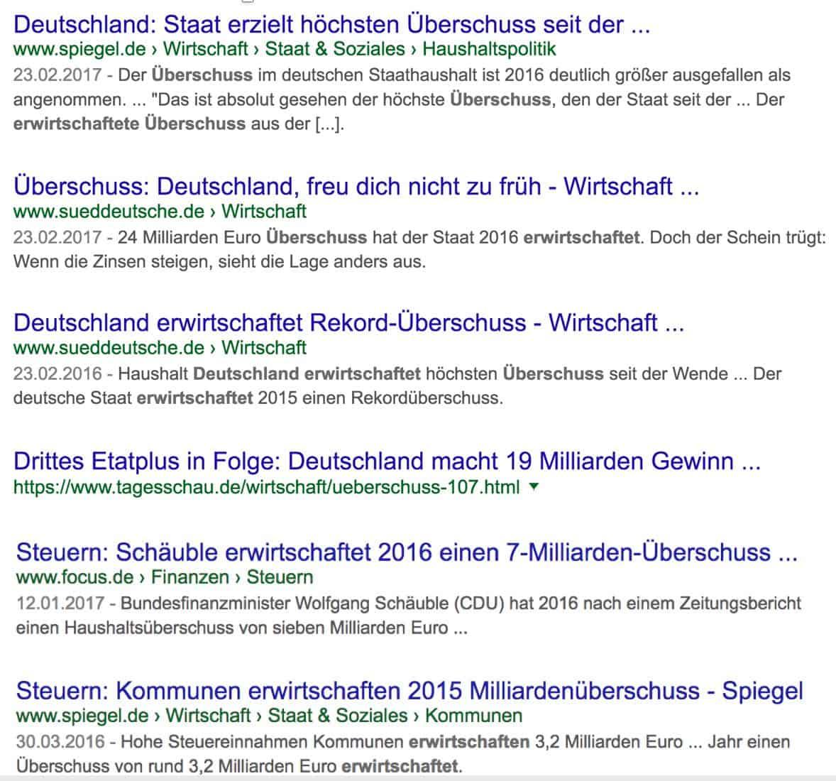 Fake News Beispiel Deutsche Leitmedien ERWIRTSCHAFTEN