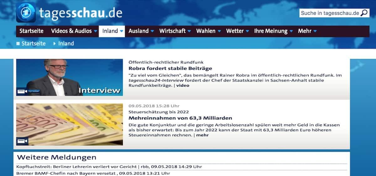 Meldungen ARD Tageschau Fakes News