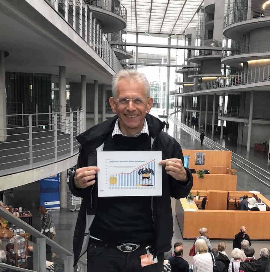 Politischer Reformer Jürgen Lauber im Bundestag