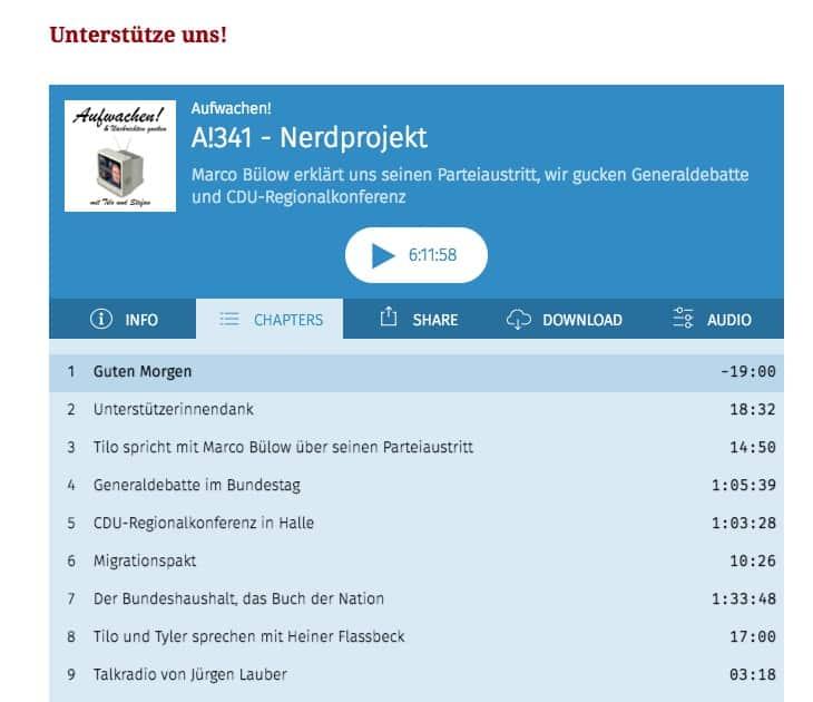 ufwachen Podcast A341 Werner Gatzer Lauber