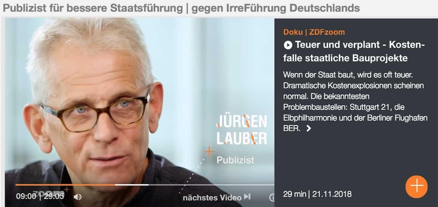 Politischer reformer Juergen Lauber ZDF Zoom