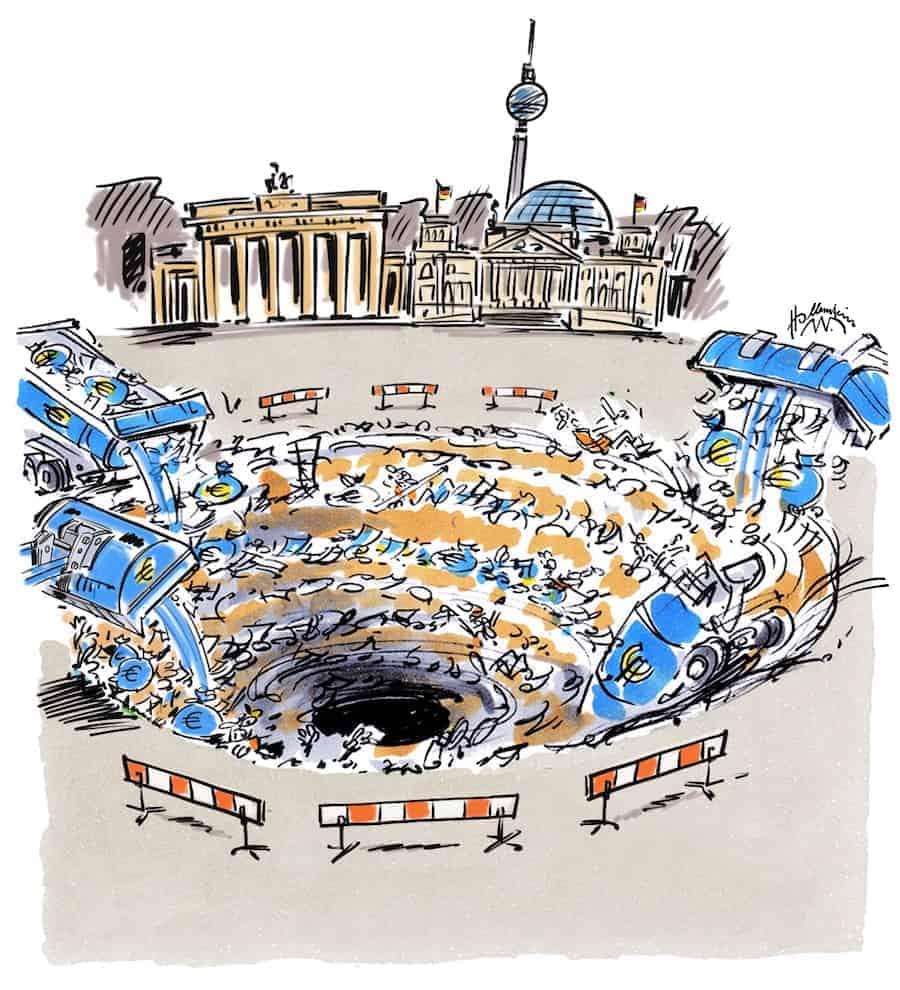 Berliner Schwarzes Steuerloch Merkelrampe